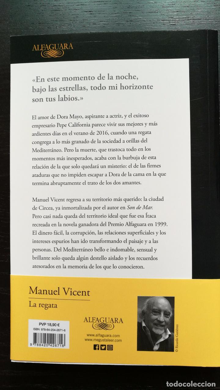 Libros de segunda mano: LA REGATA. MANUEL VICENT - Foto 2 - 106925580