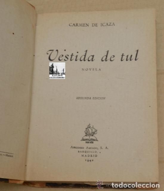 Vestida De Tul Carmen De Icaza Afrodisio Ag Comprar Libros De Novela Romántica En Todocoleccion 86500252