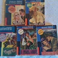 Libros de segunda mano: 5 NOVELAS ROMANTICAS COLECCION PUEYO VINTAGE. Lote 86954744