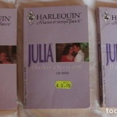 Libros de segunda mano: LOTE Ñ 3 LIBROS ROMANTICOS JULIA. Lote 87066248