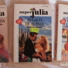 Libros de segunda mano: 3 LIBROS DE NOVELA ROMANTICA SUPERJULIA. Lote 87066468