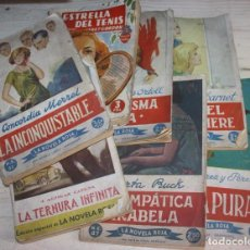 Libros de segunda mano: LOTE DE 7 NOVELAS ROMÁNTICAS ANTIGUAS. Lote 95664799