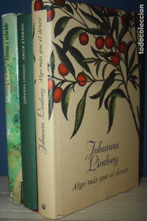 LOTE 3 LIBROS JOHANNA LINDSAY (Libros de Segunda Mano (posteriores a 1936) - Literatura - Narrativa - Novela Romántica)
