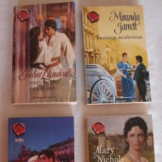 Libros de segunda mano: LOTE XXXVI 4 NOVELAS ROMÁNTICAS ROMANCE HISTORICO. Lote 98043323