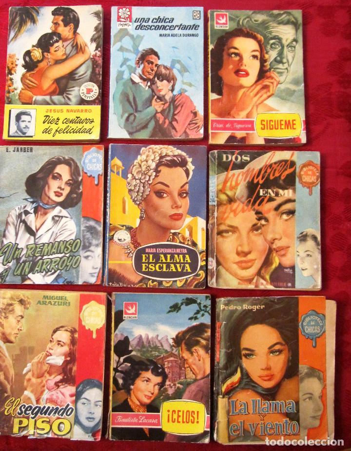 GRAN LOTE DE NOVELAS ROMANTICAS DE BRUGUERA Y OTRAS. AÑOS 50 (Libros de Segunda Mano (posteriores a 1936) - Literatura - Narrativa - Novela Romántica)