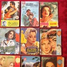 Libros de segunda mano: GRAN LOTE DE NOVELAS ROMANTICAS DE BRUGUERA Y OTRAS. AÑOS 50. Lote 101924567