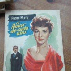 Libros de segunda mano: LIBRO EL AMOR DE CADA UNO PEDRO MATA 1955 NUM 17 L-1111-292. Lote 109012423
