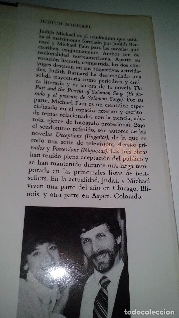 Libros de segunda mano: RIQUEZAS-JUDITH MICHAEL. CÍRCULO DE LECTORES 1990-TAPAS DURAS + CUBIERTA - Foto 7 - 117643168