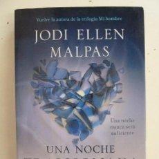 Livres d'occasion: UNA NOCHE TRAICIONADA. ELLEN MALPAS. Lote 110317131