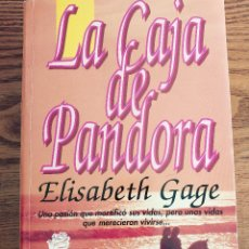 Libros de segunda mano: LA CAJA DE PANDORA - ELIZABETH GAGE - EDICIONES B - EDICIÓN RUSTICA 664 PAGINAS - (MUY BUEN ESTADO). Lote 112326923