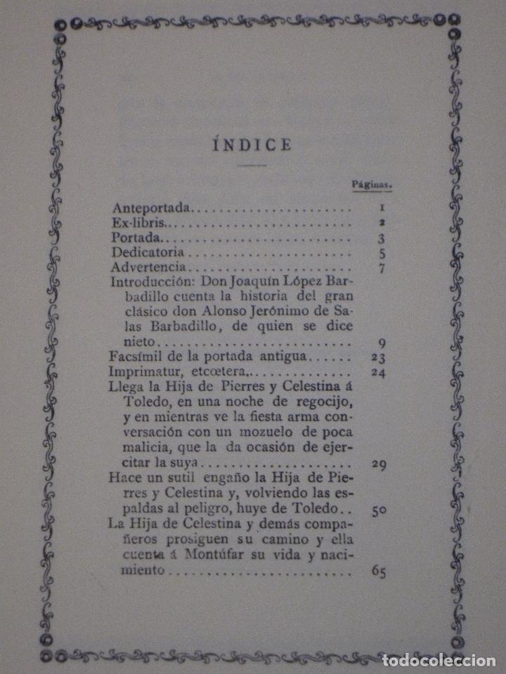 Libros de segunda mano: LA HIJA DE CELESTINA - POR ALONSO GERONIMO DE SALAS BARBADILLO. EDICION FACSIMIL. - Foto 3 - 115035615