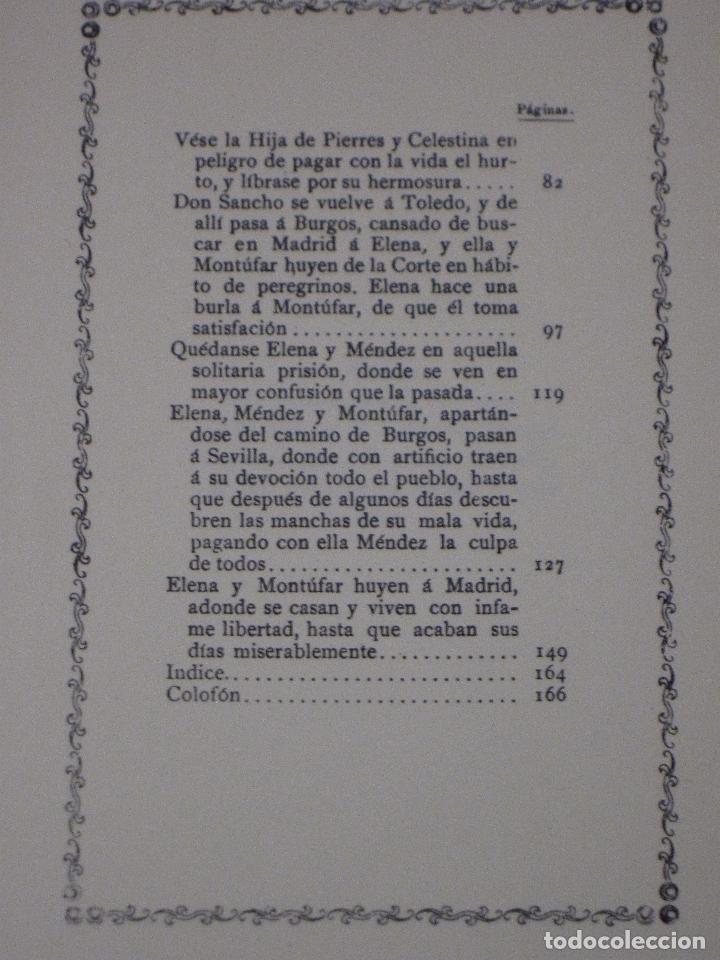 Libros de segunda mano: LA HIJA DE CELESTINA - POR ALONSO GERONIMO DE SALAS BARBADILLO. EDICION FACSIMIL. - Foto 4 - 115035615