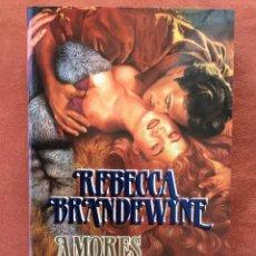 Livres d'occasion: REBECCA BRANDEWYNE - AMORES TURBULENTOS (COLECCIÓN CISNE 3/2). Lote 116676083