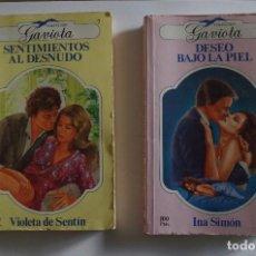 Libros de segunda mano: COLECCION GAVIOTA Nº 4 Y 7 1ª EDICION 1984 - AUTORES INA SIMON Y VIOLETA DE SENTIN. Lote 117493491