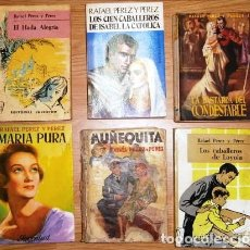 Libros de segunda mano: LOTE DE SEIS NOVELAS POR RAFAEL PÉREZ Y PÉREZ DE EDITORIAL JUVENTUD EN BARCELONA (VER DESCRIPCIONES). Lote 26716765