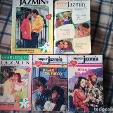 Libros de segunda mano: COLECCIÓN JAZMÍN NOVELA ROMÁNTICA 5 LIBROS 7 HISTORIAS AÑOS 90 HARLEKIN. Lote 118881523