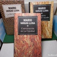 Libros de segunda mano: LOTE 3 NOVELAS MARIO VARGAS LLOSA RBA GUERRA FIN DEL MUNDO, CONVERSACIONES CATEDRAL LA CASA VERDE. Lote 125822799