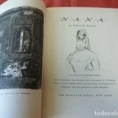 Libros de segunda mano: NANA - EMILE ZOLA (EN INGLÉS) - ILUSTRACIONES DE BERNARD LAMOTTE (NEW YORK, 1948). Lote 127766711