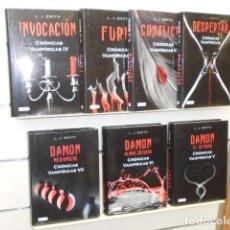 Libros de segunda mano: CRONICAS VAMPIRICAS COMPLETA 7 LIBROS - L. J. SMITH - DESTINO OFERTA. Lote 128704643