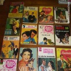 Libros de segunda mano: LOTE DE 13 NOVELAS - EDITORIAL BRUGUERA - AÑOS 50 Y 60 - ROMANTICAS. Lote 129595495