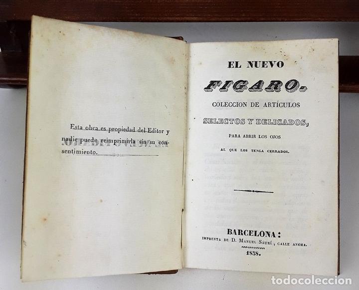 Libros de segunda mano: EL NUEVO FIGARO. IMPRENTA MANUEL SAURÍ. BARCELONA. 1838. - Foto 4 - 137721382
