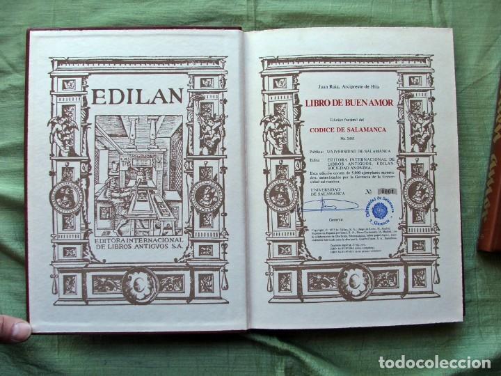 Libros de segunda mano: LIBRO DE BUEN AMOR.EDICIÓN FACSÍMIL DEL CÓDICE DE SALAMANCA .-JUAN RUIZ,ARCIPRESTE DE HITA - Foto 4 - 139584378