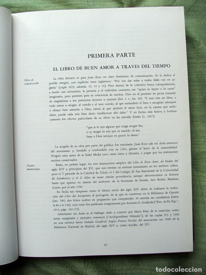 Libros de segunda mano: LIBRO DE BUEN AMOR.EDICIÓN FACSÍMIL DEL CÓDICE DE SALAMANCA .-JUAN RUIZ,ARCIPRESTE DE HITA - Foto 16 - 139584378