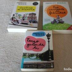 Libros de segunda mano: LOTE 3 LIBROS FEDERICO MOCCIA TENGO GANAS DE TI CAROLINA SE ENAMORA ESE INSTANTE DE FELICIDAD. Lote 141560298