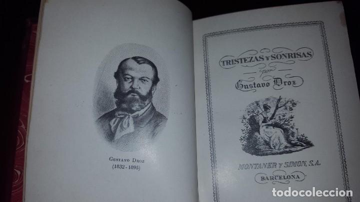 Libros de segunda mano: Tristezas y sonrisas - Gustavo Droz - Barcelona -1943 - Foto 3 - 151661178