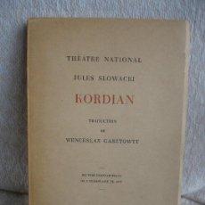 Libros de segunda mano: JULES SLOWACKI. KORDIAN. Lote 155539186