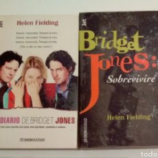 Libros de segunda mano: 631 - 2 LIBROS EL DIARIO DE BRIDGET JONES Y SOBREVIVIRE HELEN FIELDING. Lote 155688470