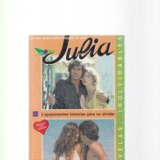 Libros de segunda mano: JULIA - 2 NOVELAS HARLEQUIN 1989. Lote 156483170