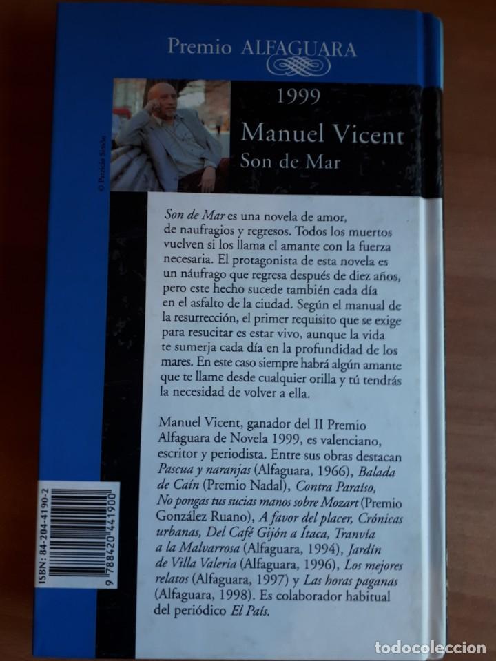 Libros de segunda mano: SON DE MAR . MANUEL VICENT - Foto 2 - 156867686