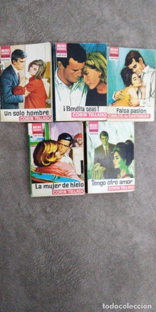 LOTE 5 NOVELA CORIN TELLADO, MINI LIBROS BRUGUERA (Libros de Segunda Mano (posteriores a 1936) - Literatura - Narrativa - Novela Romántica)