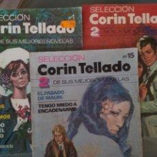 Libros de segunda mano: LOTE 3 SELECCIÓN CORIN TELLADO. 2 DE SUS MEJORES NOVELAS. Lote 166069701