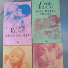 Libros de segunda mano: CORIN TELLADO. SILVIA LOTE 4 NOVELAS ROMÁNTICAS. Lote 167693309