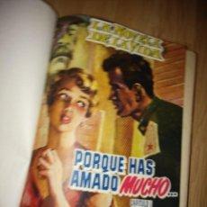 Libros de segunda mano: LIBRO ENCUADERNADO DE LA NOVELA DE LA VIDA, PORQUE HAS AMADO MUCHO,COMPLETO LOS 25 CAPITULOS,400 PAG. Lote 168238540