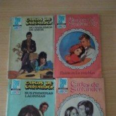 Libros de segunda mano: LOTE 4 NOVELAS ROMÁNTICAS. CARLOS DE SANTANDER. Lote 167697690