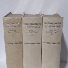 Libros de segunda mano: DOSTOYEVSKI OBRAS COMPLETAS 3 TOMOS 1969 EDICION AGUILAR. Lote 171462233