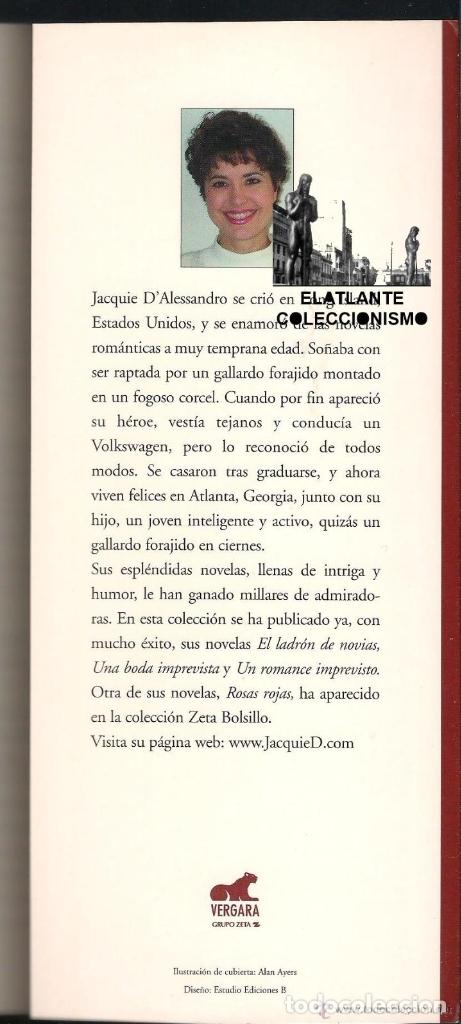 Libros de segunda mano: DESPIERTOS A MEDIANOCHE - JACQUIE D´ ALESSANDRO - VERGARA - COLECCIÓN AMOR Y AVENTURA - BUEN ESTADO - Foto 5 - 171605124