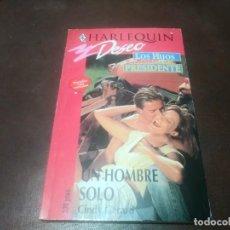 Libros de segunda mano: LIBRO NOVELA HARLEQUIN DESEO N° 631 UN HOMBRE SOLO CINDY GERARD . Lote 171656805