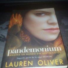 Libros de segunda mano: PANDEMONIUM LAUREN OLIVER SAGA DELIRIUM. Lote 172085429