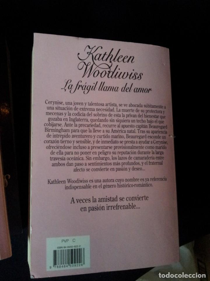 Libros de segunda mano: KATHLEEN WOODIWISS - LOTE DE 9 LIBROS - COLECCION CISNE - Foto 13 - 172732007