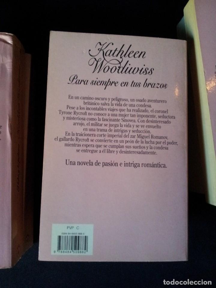 Libros de segunda mano: KATHLEEN WOODIWISS - LOTE DE 9 LIBROS - COLECCION CISNE - Foto 15 - 172732007
