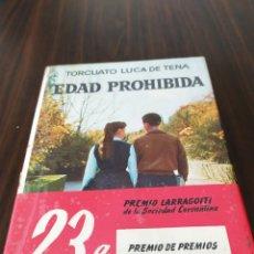 Libros de segunda mano: EDAD PROHIBIDA, TORCUATO LUCA DE TENA. Lote 173195728
