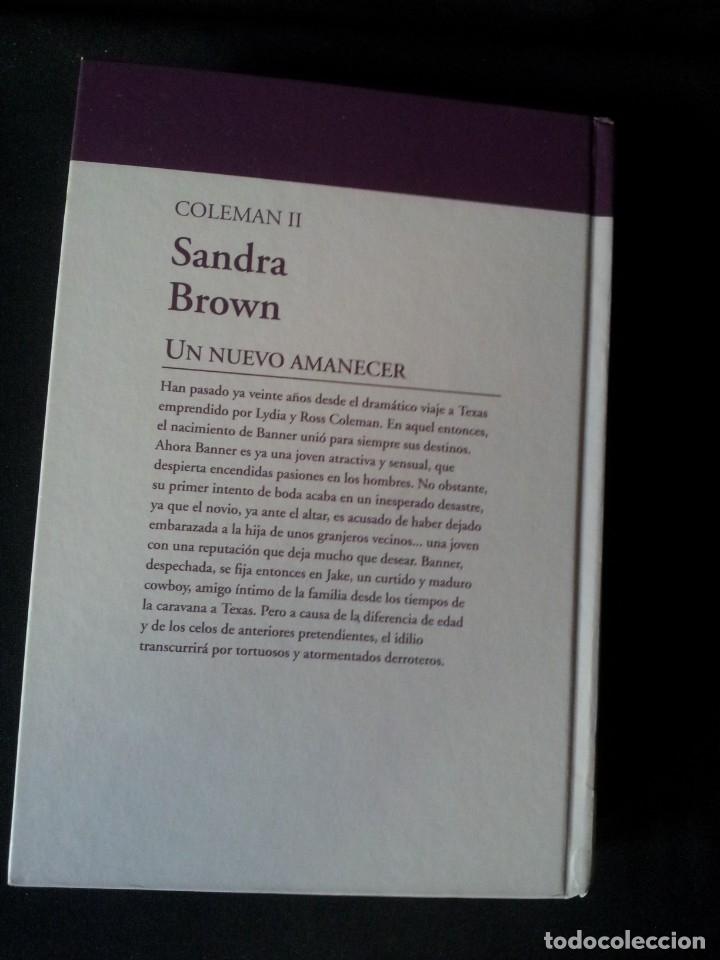 Libros de segunda mano: SANDRA BROWN - COLEMAN (2 LIBROS) - COLECCION GRANDES SAGAS DE LA NOVELA ROMANTICA - RBA - Foto 5 - 174535597