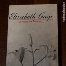 Libros de segunda mano: LA CAJA DE PANDORA. ELIZABETH GAGE. 990 PAGINAS. TAPA BLANDA. VER FOTOS PARA VER DETALLES.. Lote 176633377