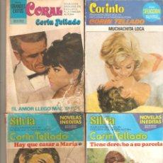 Libros de segunda mano: LOTE DE CUATRO NOVELAS ROMÁNTICAS ESCRITAS POR CORÍN TELLADO. Lote 176974308