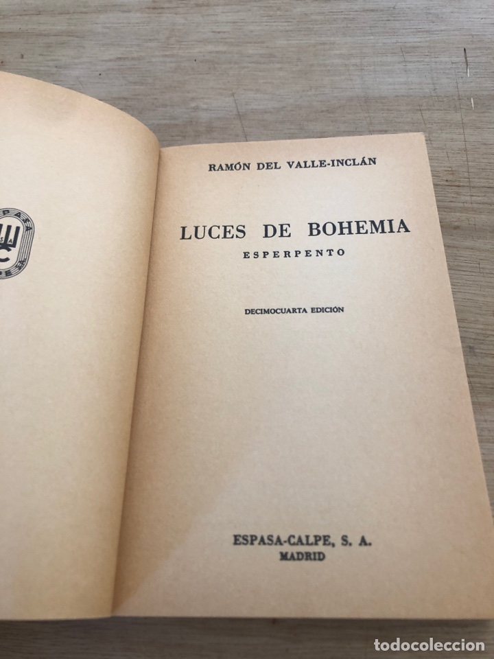 Libros de segunda mano: Luces de bohemia - Foto 3 - 177462692