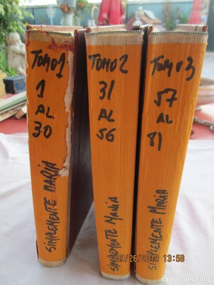 Libros de segunda mano: FOTONOVELA SIMPLEMENTE MARÍA COMPLETA 81 NÚMEROS. 3 TOMOS. AÑOS 70. - Foto 2 - 177815260